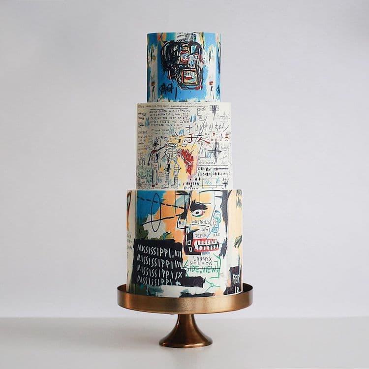Pastel inspirado en Basquiat de Tortik Annuchka