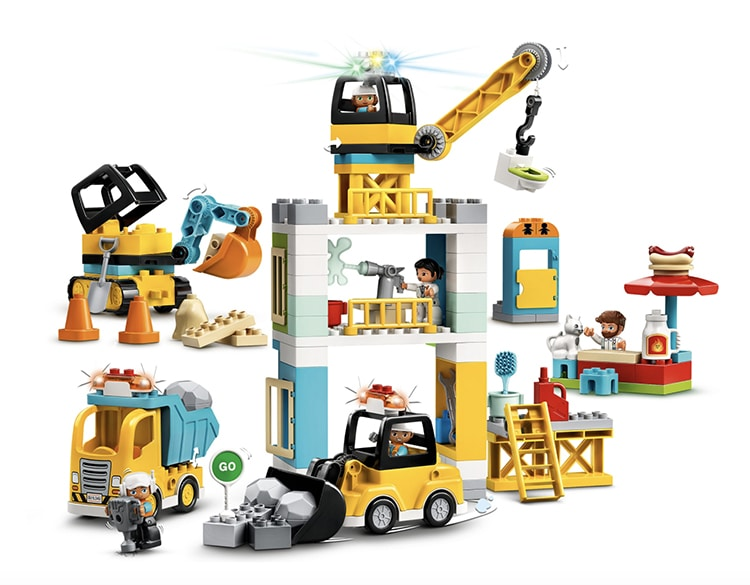 Tower Crane and Construction LEGO Set