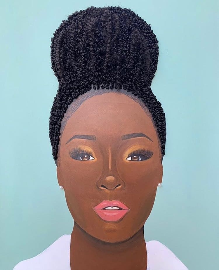 Portrait Using Real Hair by Tyler Clark