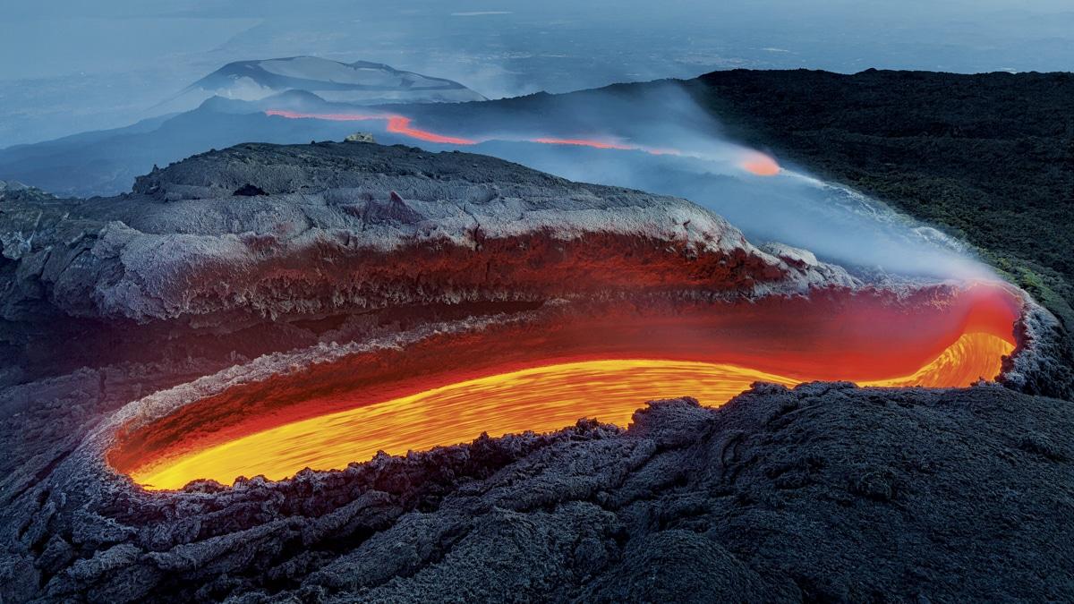 Lava Flows on Mount Etna