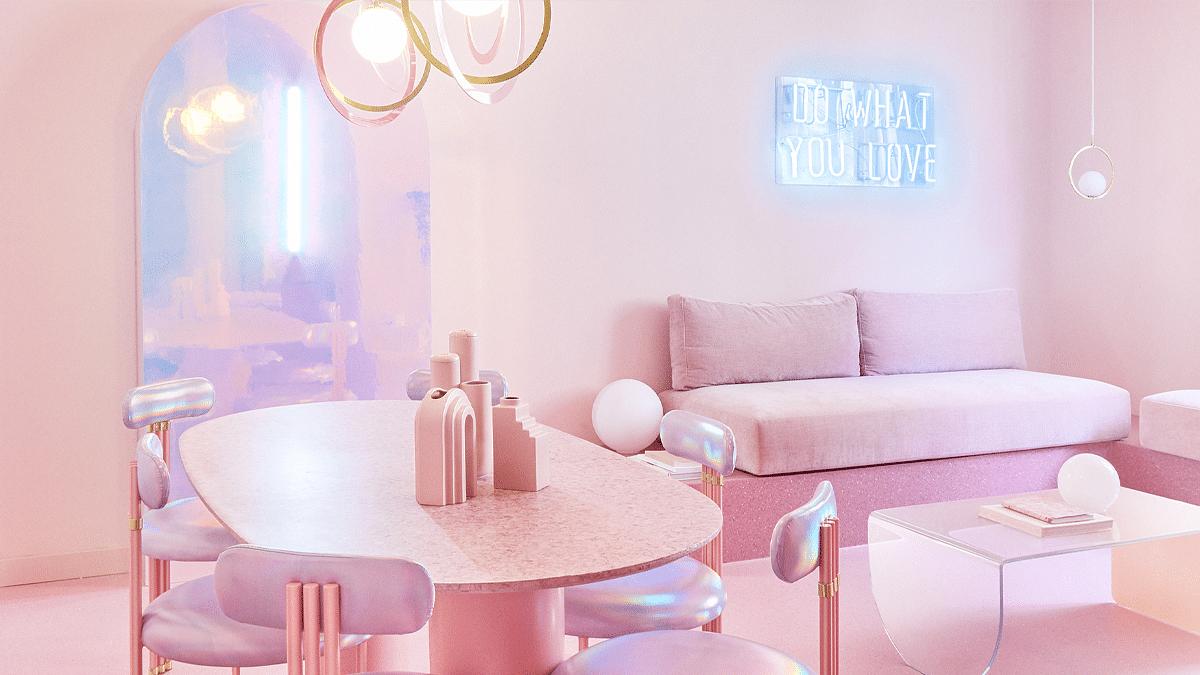 Piso rosa en Madrid diseñado por Patricia Bustos Studios