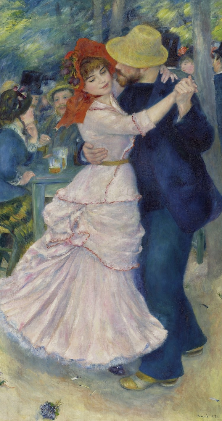 Dance at Bougival by Renoir