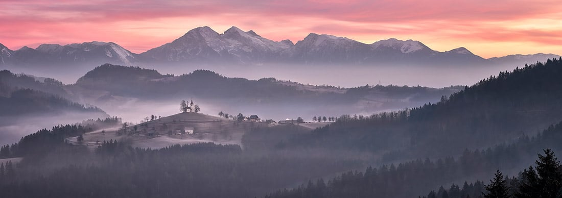 Sunrise in Slovenia