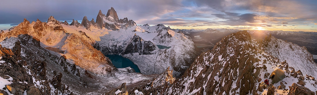 Smartphone Pano of El Chalten in Patagonia