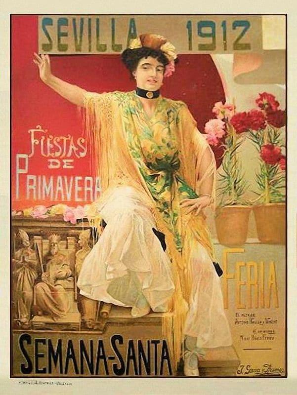 Cartel de la Feria de Abril de 1912