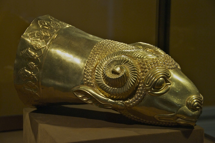 Gold Rhyton Ram's Head Iran