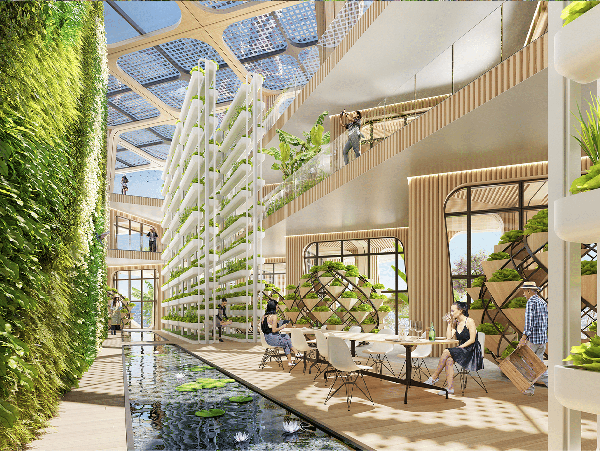 Interior Rendering of Rainbow Tree Tower in the Philippines