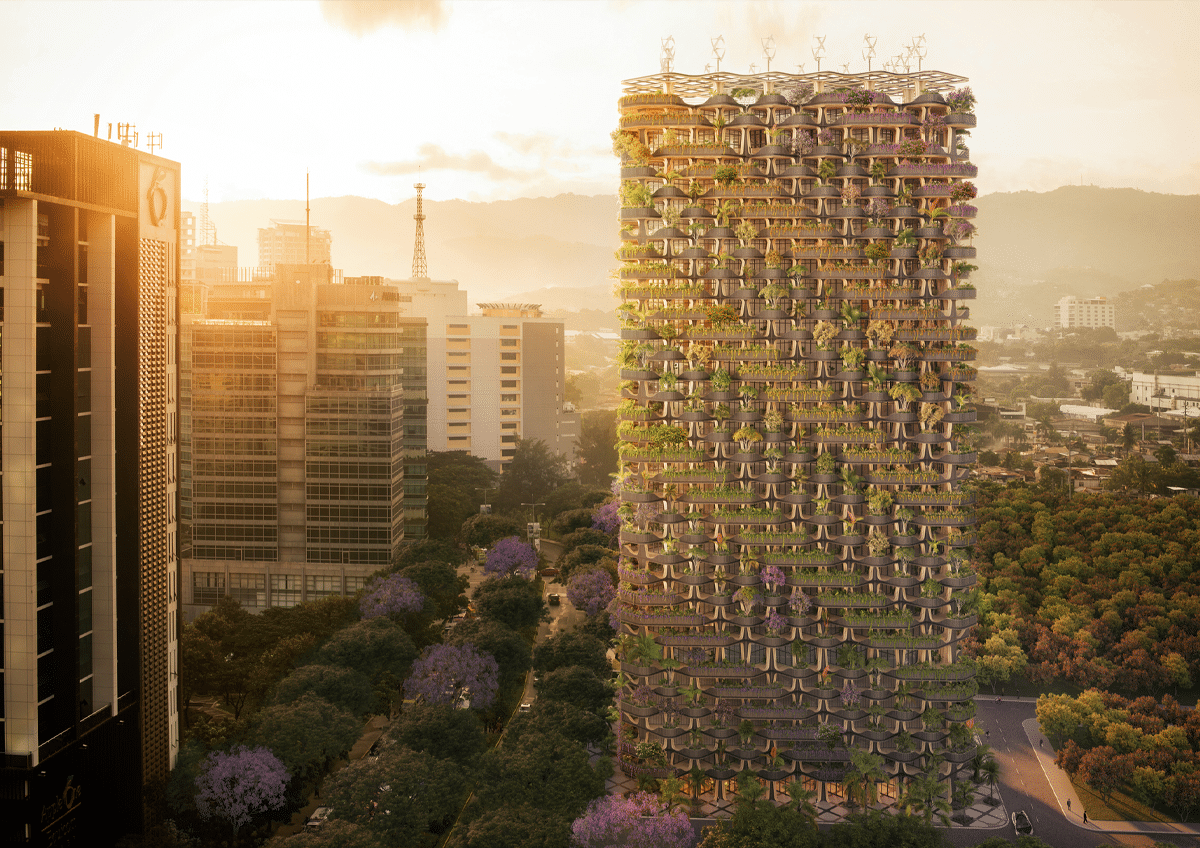 Dusk Rendering of Rainbow Tree Tower in the Philippines