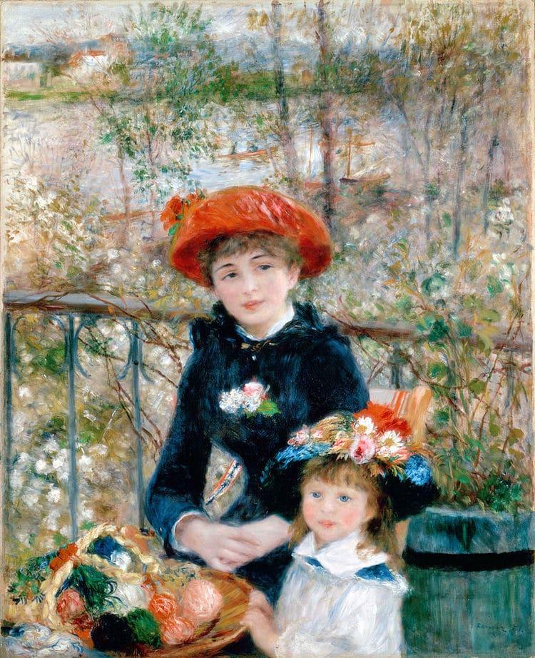 en la terraza de Renoir