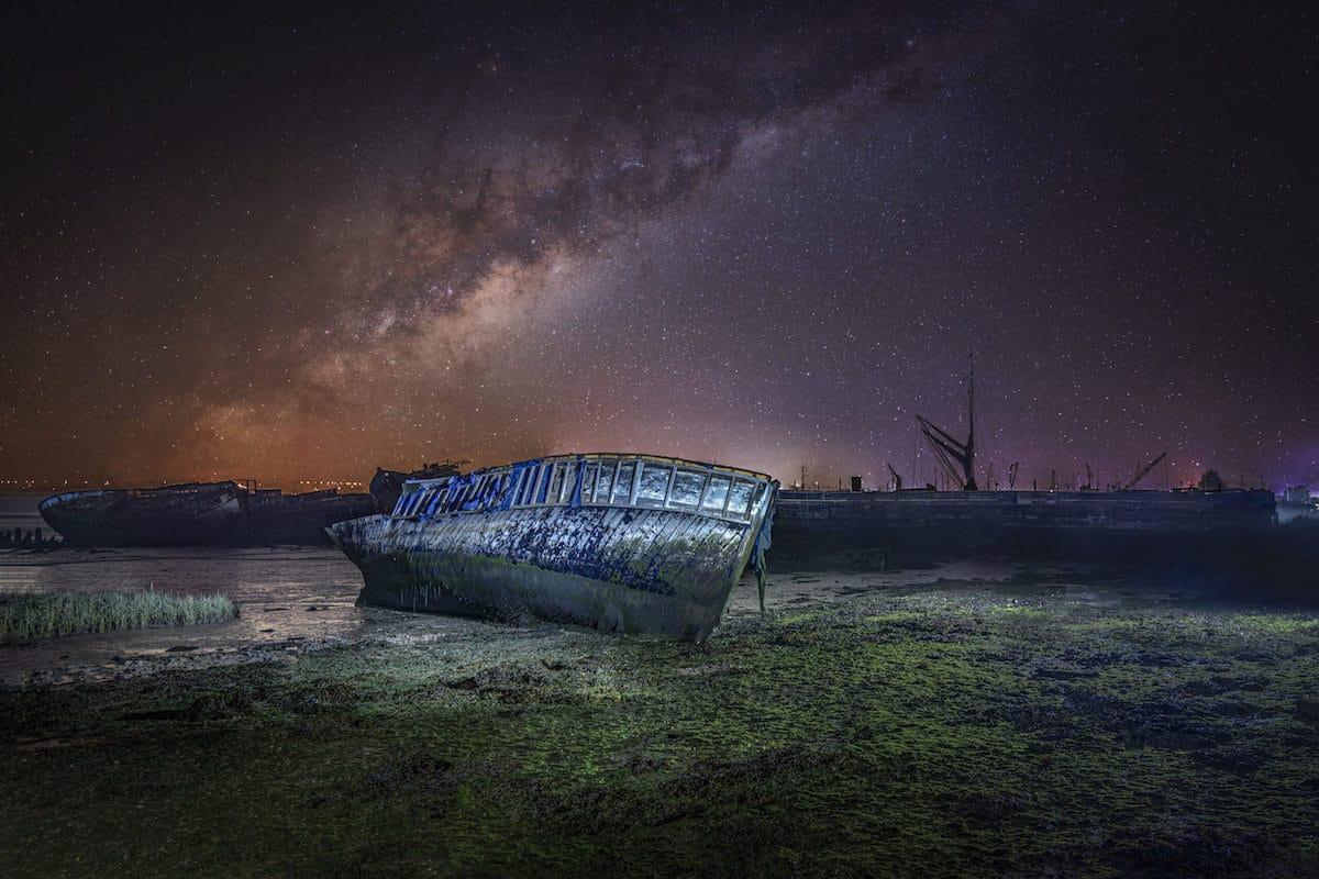 naufragio en East Kent Marshes
