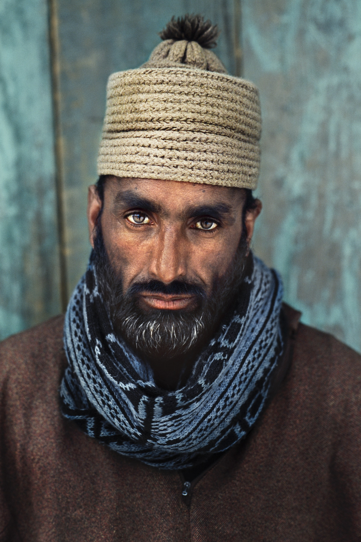 Portrait of a Main in Kashmir by Steve McCurry