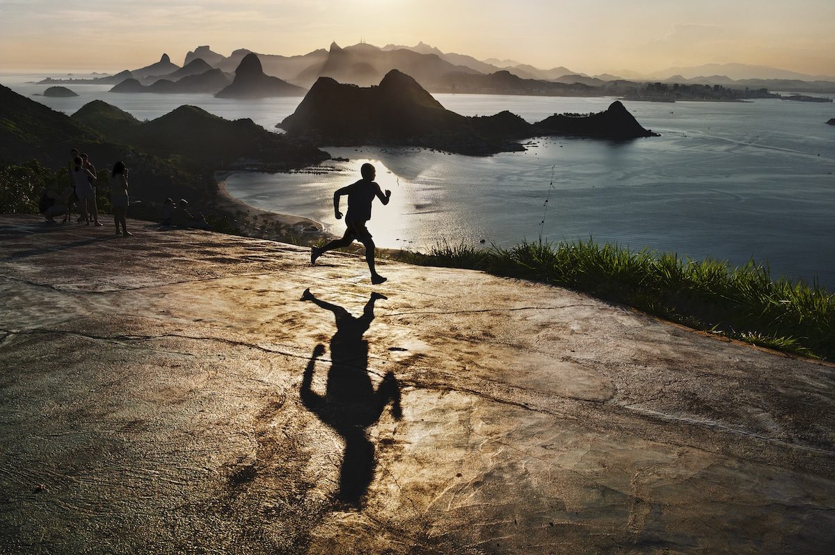 Running on the Beach in Rio de Janeiro by Steve McCurry