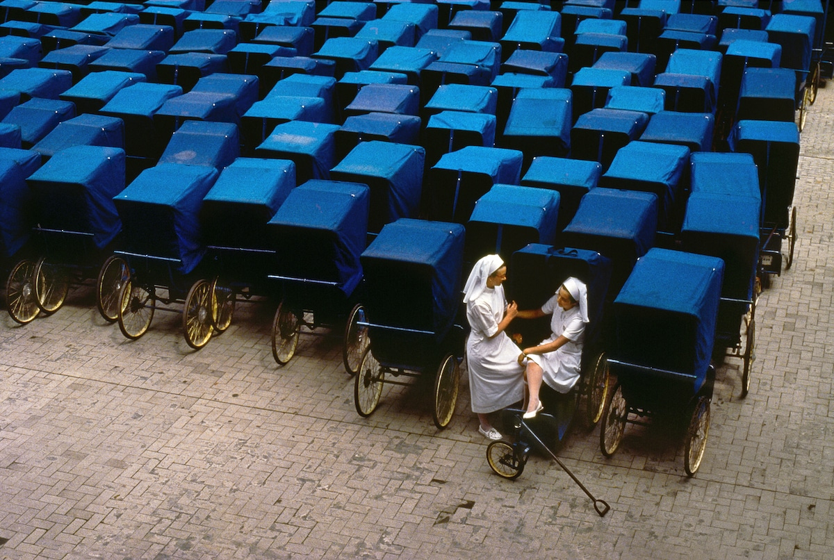 Two French Nuns Chatting by Steve McCurry