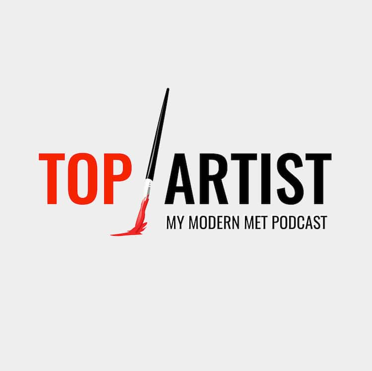 Top Artist Podcast Logo Grey
