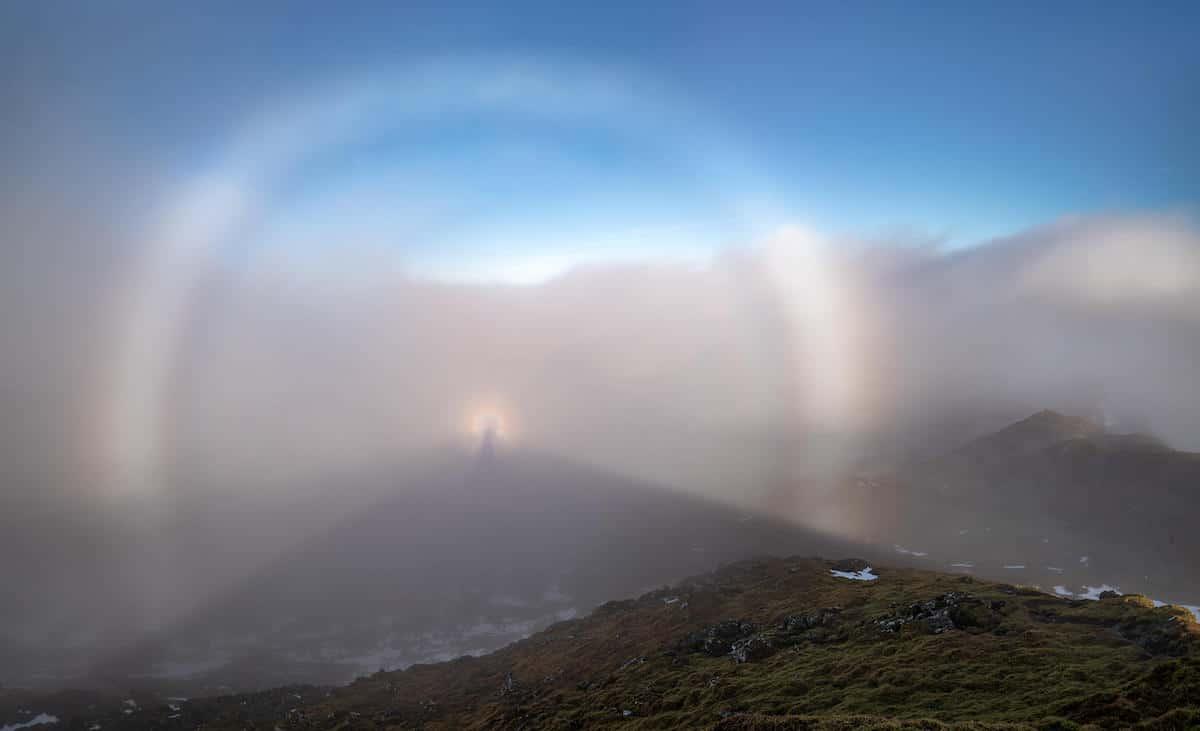 Fog Bow at Meall Nan Tarmachan