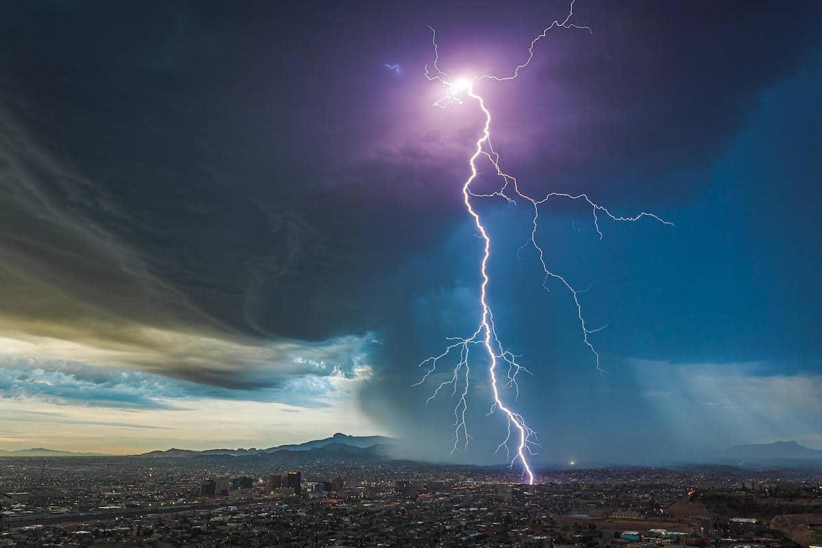 Lightning in El Paso, Texas