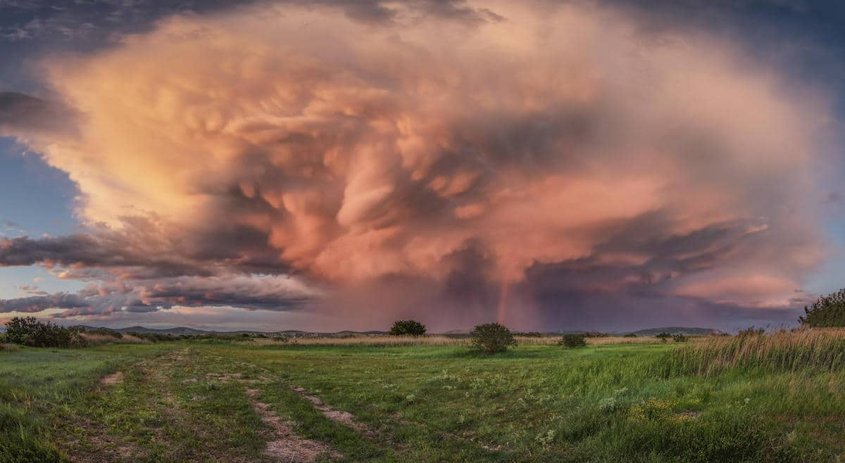 Supercell During Sunset