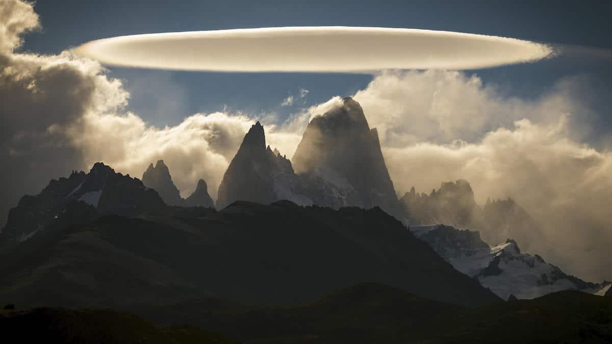Lenticular Cloud Over El Chaltén in Argentina
