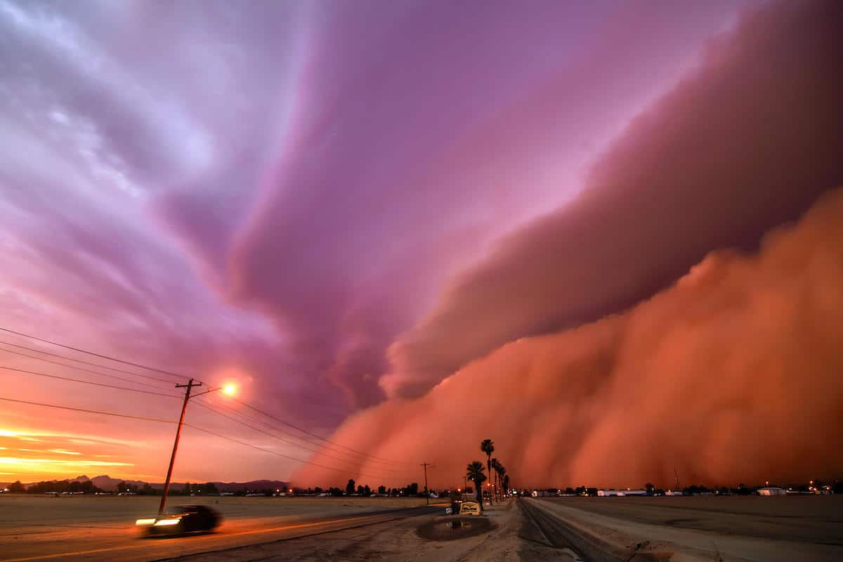 Large Dust Storm in Arizona