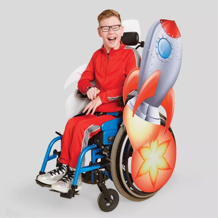 Set de disfraz de cohete para silla de ruedas