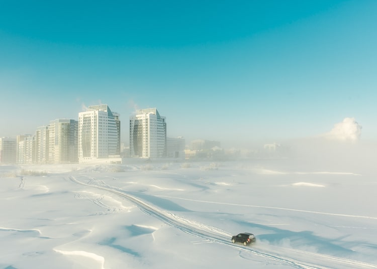 Residential Neighborhood in Yakutsk