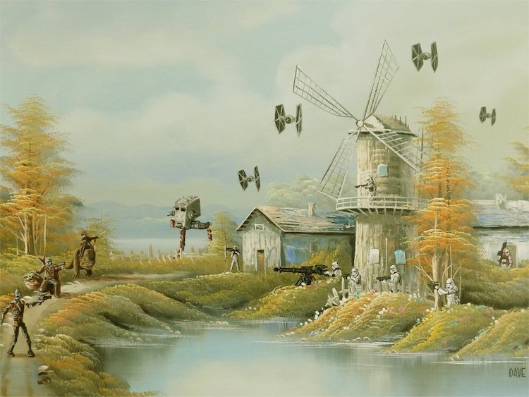 Altered Thrift Store Paintings by Arrowhead Vintage & Goods