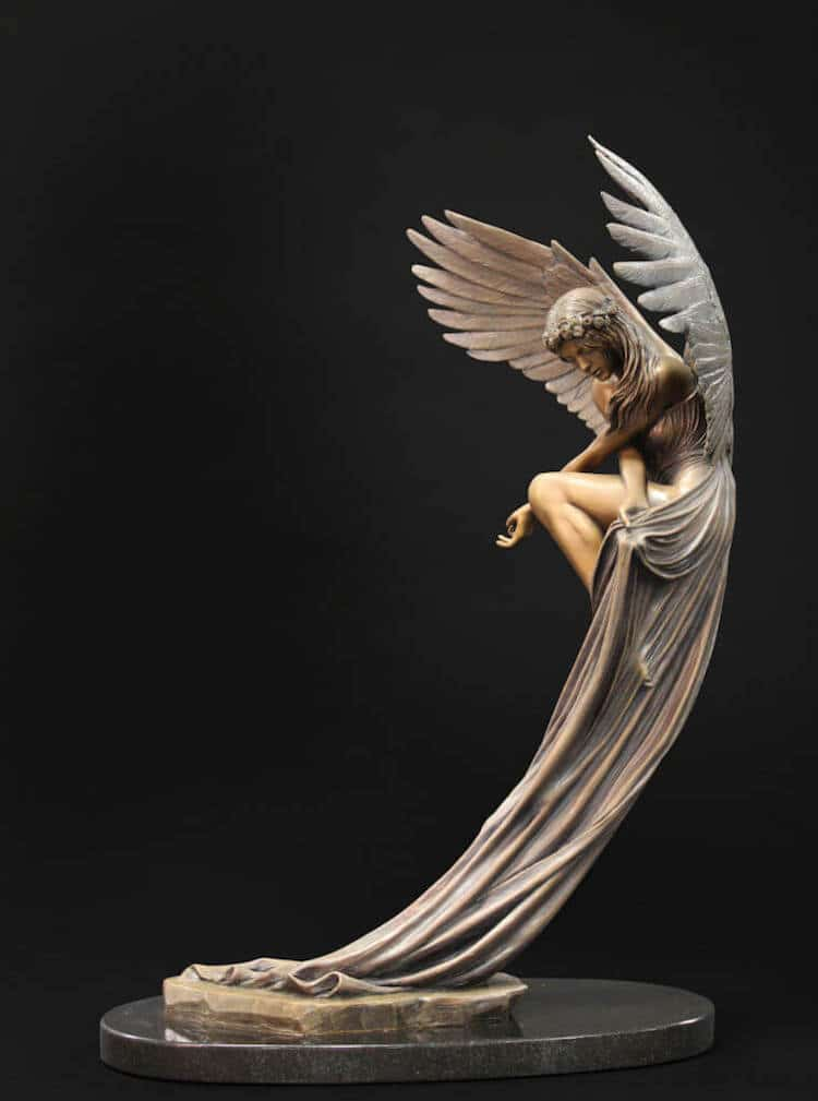Angel Sculpture by Benjamin Victor