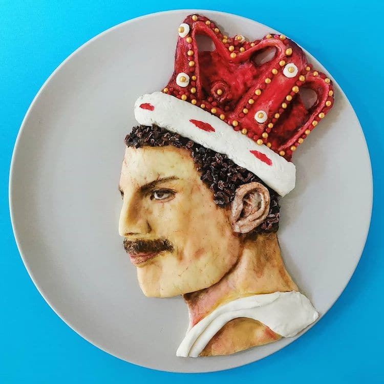 retratos con comida por De Meal Prepper