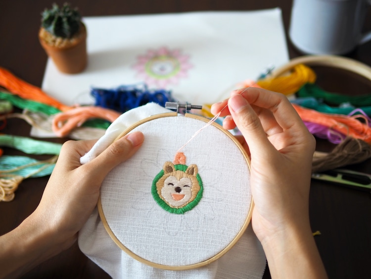 Embroidering a Dog