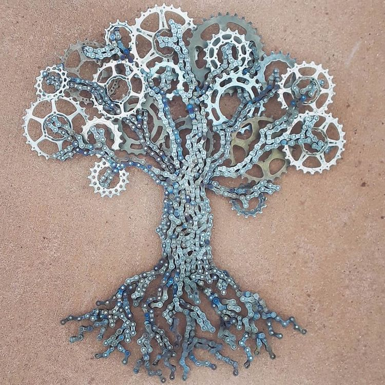 Bike Chain Sculptures by Drew Evans