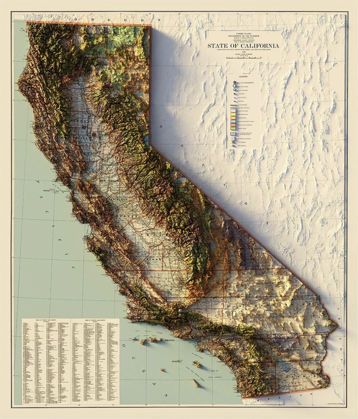 California State Relief Map