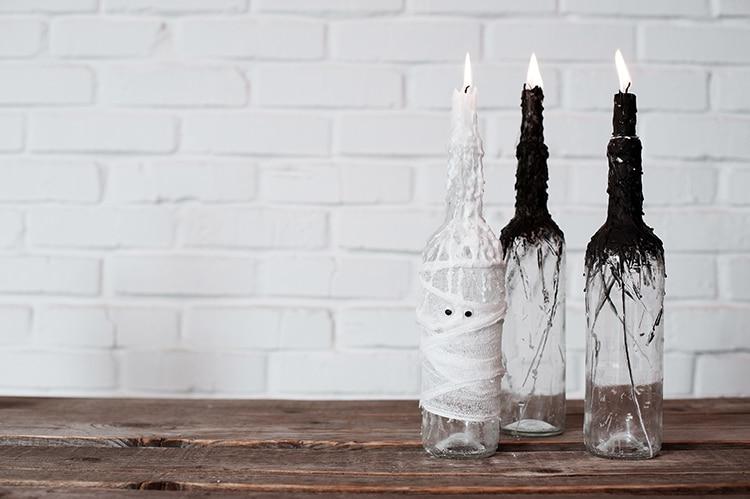 Candlesticks Wine Bottles