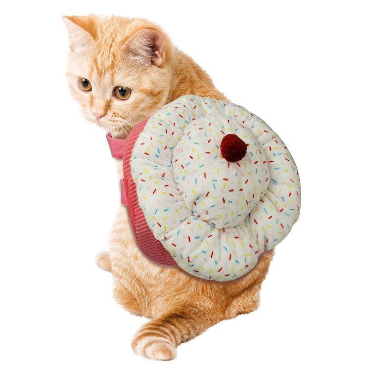 Disfraz de cupcake para gato