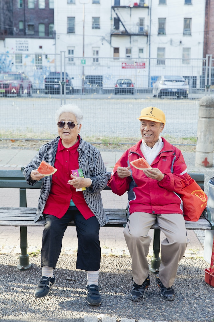 Stylish Senior Citizens Living in Chinatown