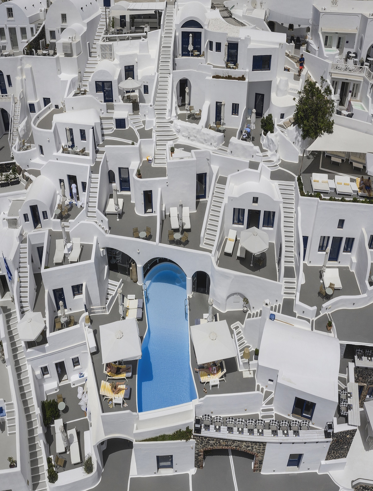 Aerial view of homes in Greece
