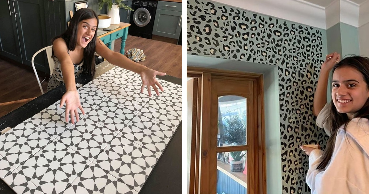 Photo of 12-Year-Old Renovates Her Family's Home On a Shoestring Budget
