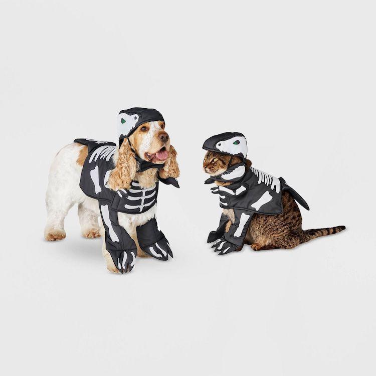 Disfraz de esqueleto para mascotas