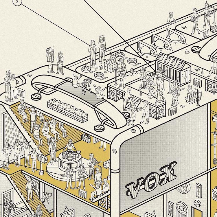 infografia de bocina por Dorothy Studio