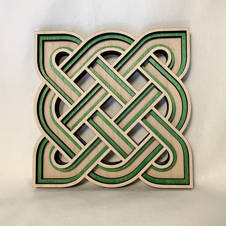 Celtic Knot Woodcut
