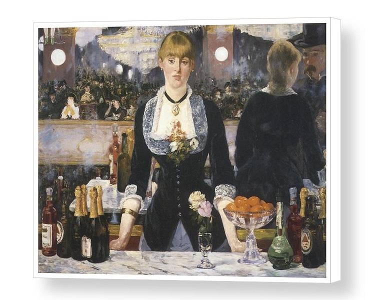 Bar at the Folies Bergere Manet Canvas Print