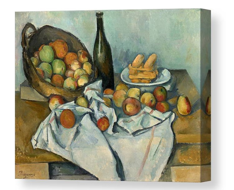 Basket of Apples by Paul Cezanne Canvas Print