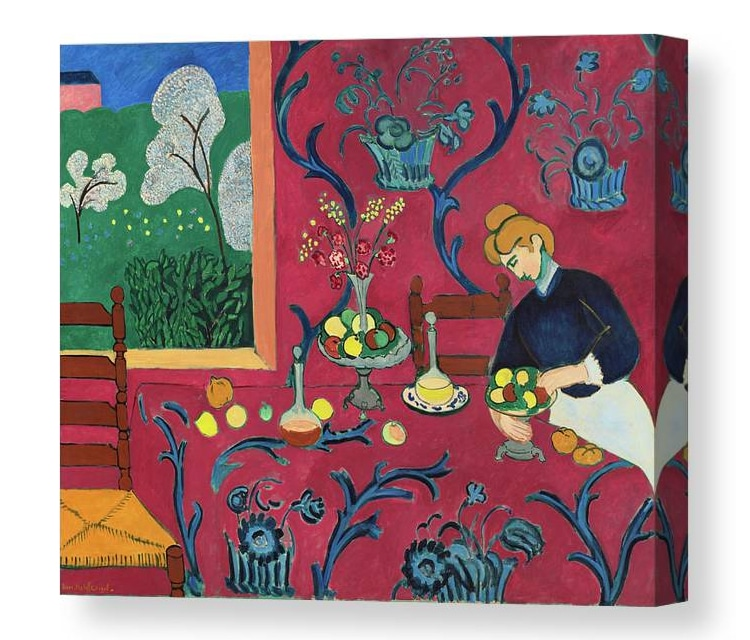 The Red Room by Henri Matisse Canvas Print