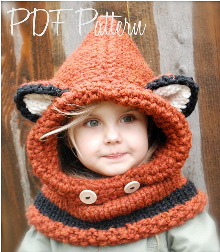 Fox Cowl pattern for Kids