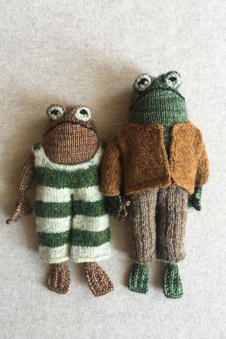 Knitting Pattern of Frog and Toad
