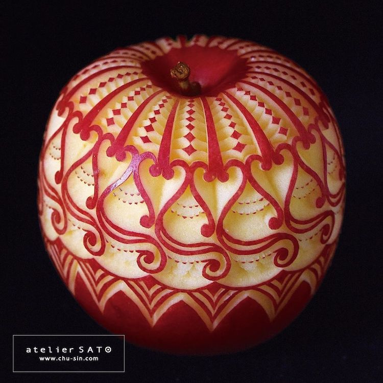 Fruit Carving by Tomoko Sato