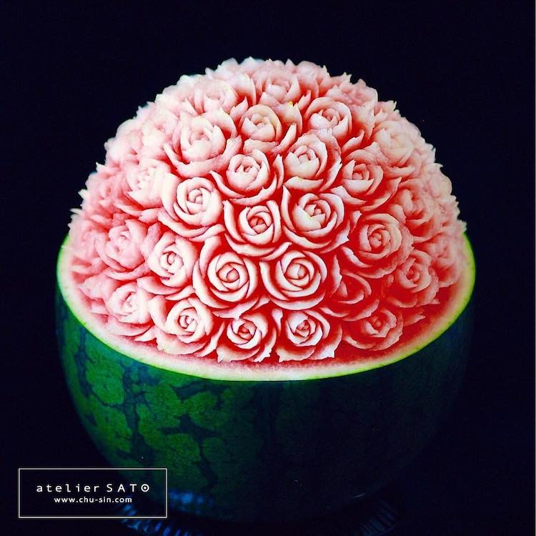 Watermelon Carving by Tomoko Sato