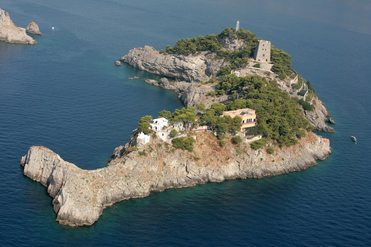 Island Shaped Like a Dolphin in Italy