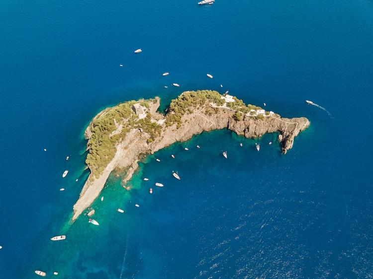 Dolphin Shaped Island in Italy