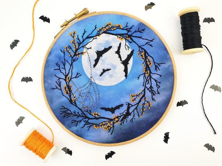 Halloween Scene Embroidery Kit