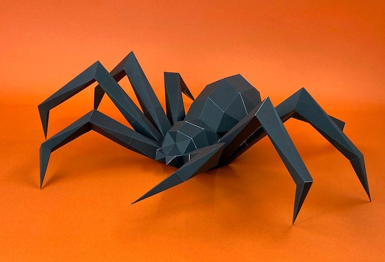 3D Spider Papercraft Model